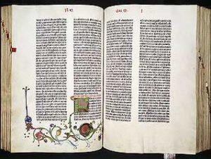 The Gutenburg Bible, Mainz, Germany c.1455 (2 vols.) vol1, L130